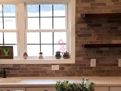 American Olean Brix backsplash